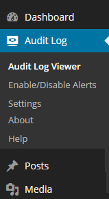 WP Activity Log plugin menu
