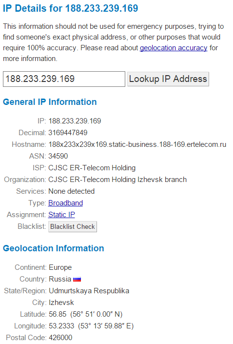 WhatIsMyIP.com provides users with all the details they need about a particular IP Address