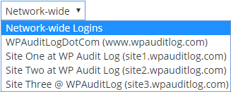 WordPress multisite drop down menu for Logged in Users