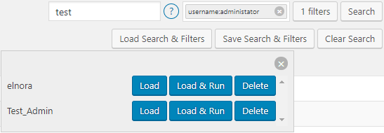 Save, Load and Reuse a combination of Search terms and filters