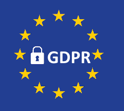 GDPR title and EU flag
