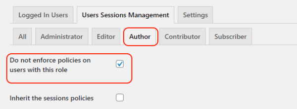 Exclude users with a specific user role from the policies