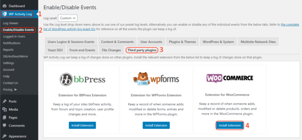Installing the WooCommerce extension