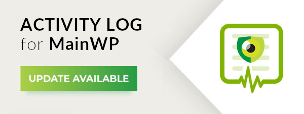 MainWP extension update banner