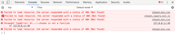 Example of multiple 404 errors